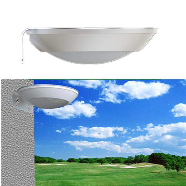 New Super Bright Outdoor Solar Lamp Outdoor Landscape Courtyard Lighting Home Human Body Microwave Radar Sensor LED Lights Round Plate UFO