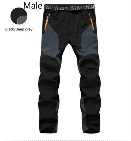 Outdoor clothing pants men and women lovers windproof waterproof thick warm fleece thick polychromatic optional