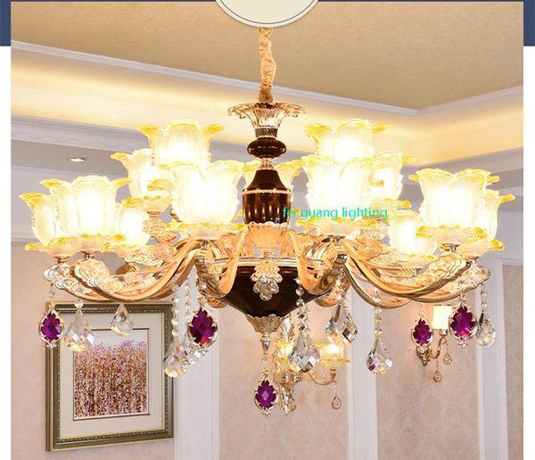 Living Room Chandelier Ligh LED Crystal Chandeliers Penthouse floor Villa Hotel shopping hall restaurant chandelier crystal lamp