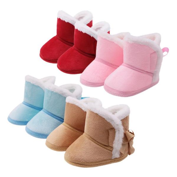 Winter Schnee Stiefel Neue Mode Jungen Mädchen Baumwolle Stiefel Warme rutschfeste Baby Weiche Schuhe Baby Schnee 0-18 Mt Komfortabel