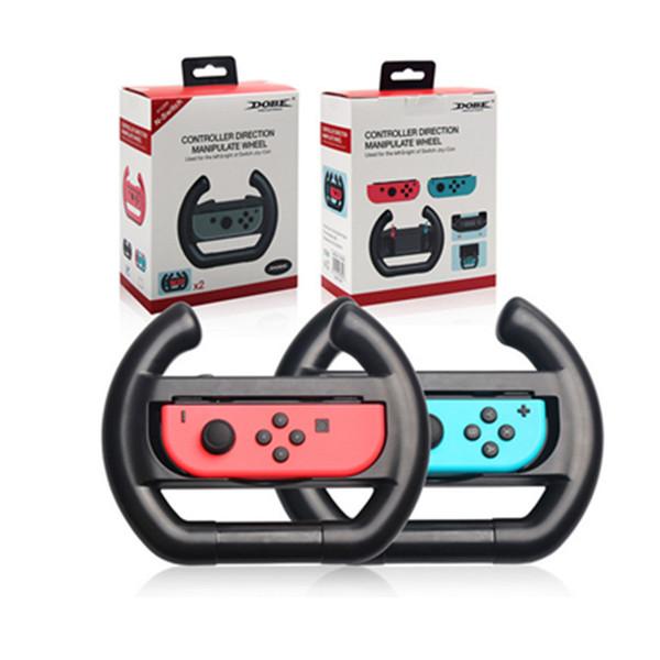 Volante Racing For Nintend Mudar Joy-Con controlador da mão pega Direção Controlador Manipular 2pcs Roda / set