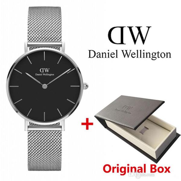 2019 neue Art und Weise Daniel Uhren rot blau Nylongürtel 36MM business casual Marke Damen-Uhr-Quarz
