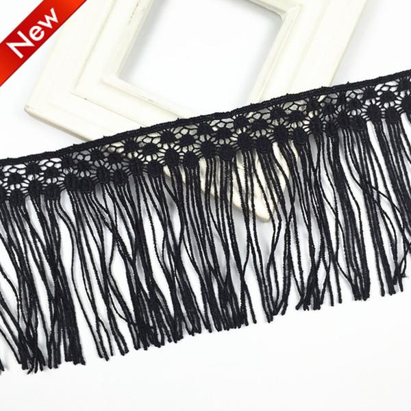 13cm Mecrame Decro soluble dans la dentelle de polyester de broderie faite à la main pour la feuille de chemise de rideau de feuille drap nappes