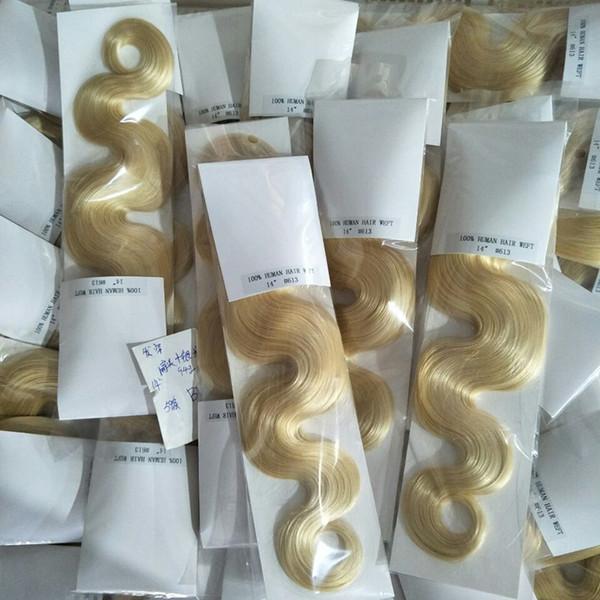 ELIBESS Hair--Human Body weave hair Bundles Russian virgin hair 613 Blonde color Hair Weft 100Grams, FREE DHL