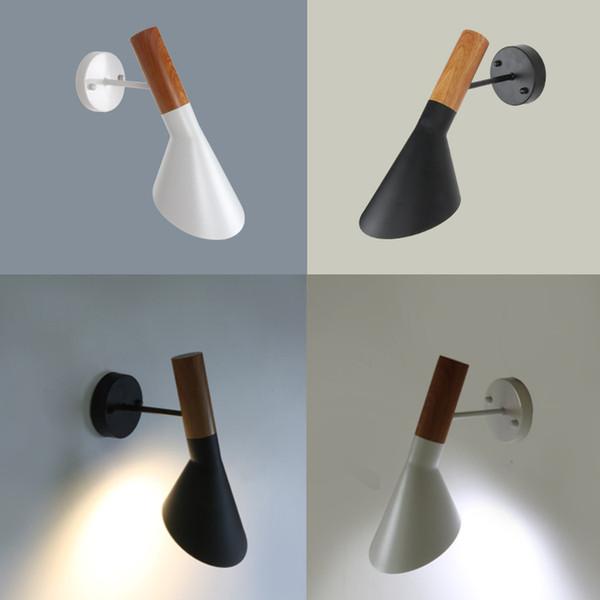 Lâmpadas design arne jacobsen moderno arandela réplica lâmpada criativa louis poulsen AJ lâmpada branco / preto aj parede
