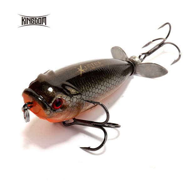 Kingdom 5.5cm/8.8g Floating Type Fishing lure Pencil Baits Plastic Hard Bait Spinner Tail Seven Colors Available model 5283 Y18100806