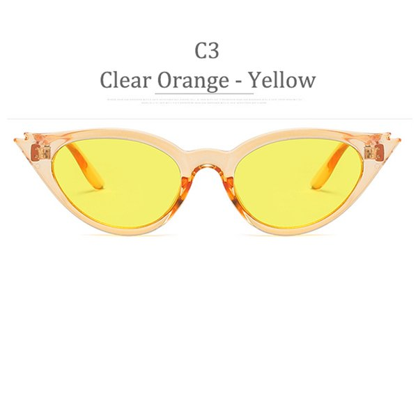 C3 Clear Orange Frame Yellow Lens