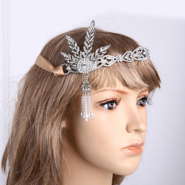 Headdress bride tiara wedding European wedding accessories ornaments great Gatsby hair ornaments New style