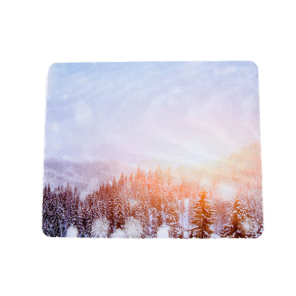 22*18cm Anti-Slip Tree and Scenery Speed Square Game Mouse Pad Gaming Mat for Laptop PC 6A20 Drop Shipping