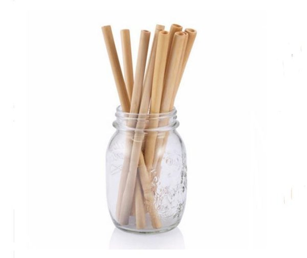 Natural Bamboo Drinking Straws Juice Water Beer Straw Reusable Eco Friendly Tubularis For Party Birthday Wedding SN1143