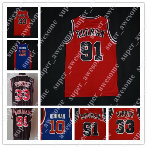 official photos 10188 fce74 2018 #91 Dennis Rodman Jersey #10 The Worm #33 Scottie Pippen College  Basketball Jerseys Red Black From Super_awesome, $15.93 | Dhgate.Com
