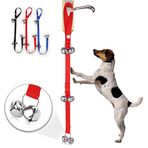 96*2.5cm Pet Doorbell Rope Dog Communication Training Obedience with 6 Bells For Dogs Pets Supplies