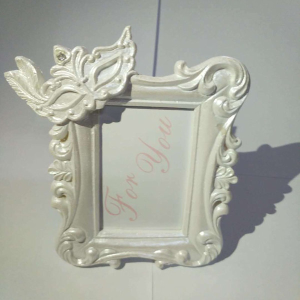 Mardi Gras Masked Theme Picture Place Card Frame Wedding Favors Table Setting Event Photo Mini Frame QW8194