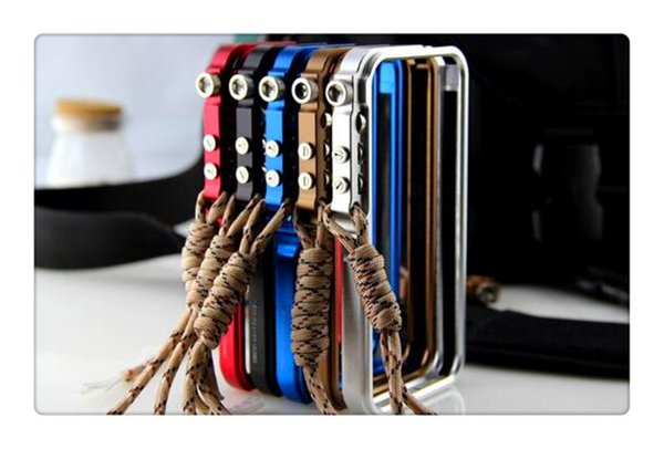 Cell Phone Cases For iphone 6 7 8 X Aluminum Metal Tool-less CNC Bumper Trigger Tactical Edition Case Frame Cover With Climbing