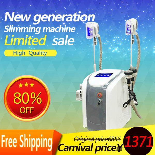 Two Cryo Handle Portable Zeltiq Cryo lipolysis Fat Freezing Machine Diode Lipo Laser Cavitation RF Slimming Machine CE/DHL