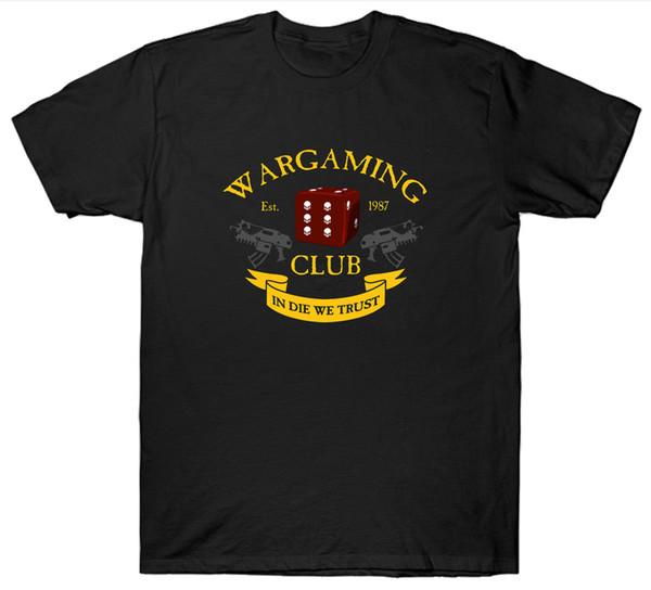 Wargaming Club T Shirt Top Wargames Jogos de Guerra Jogo Gamer New Arrival Masculino Tees Casual T-shirt do Menino Tops Descontos 2018 Moda