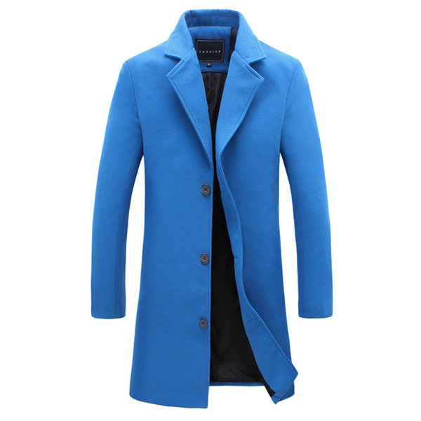 Mens Long Trench Coat Men2017 New Fasshion Trend Winter Men Overcoat Solid Trench Coat Male Jacket