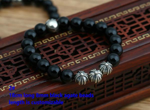 2# 18cm 8mm beads bracelet