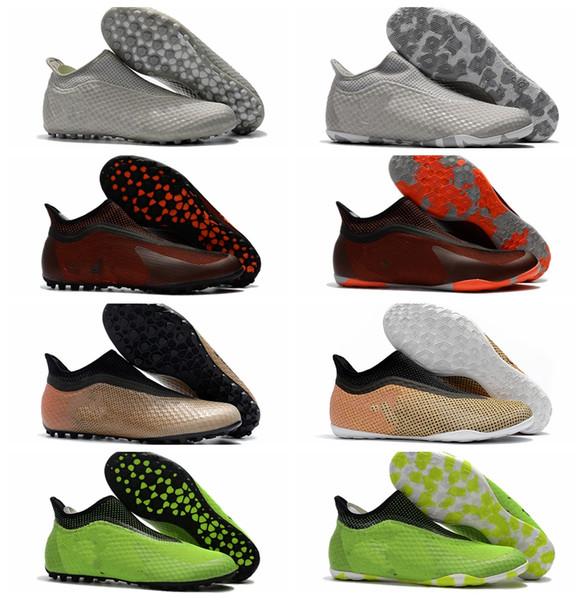 2018 mens original soccer shoes turf X Tango 17 Purespeed TF IC indoor soccer cleats botas de futbol new football boots predator futsal