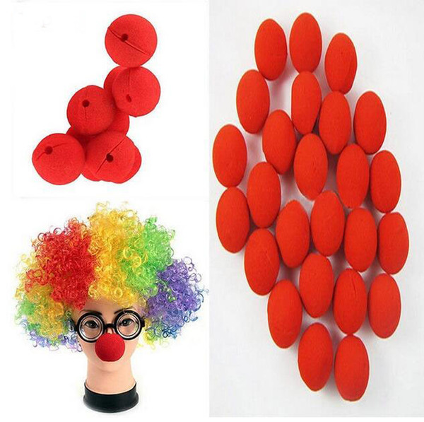 Hot sale Adorable Red Ball Foam Circus Clown Nose Comic Party Halloween Costume Magic Dress Accessories Decoration GA334