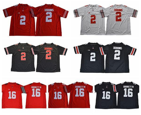 2018 Ohio State Buckeyes College Football Jerseys 16 JT J.T Barrett IV 2  J.K. Dobbins JK 97 Nick Bosa 15 Ezekiel Elliott Football Shirts f2db5547b
