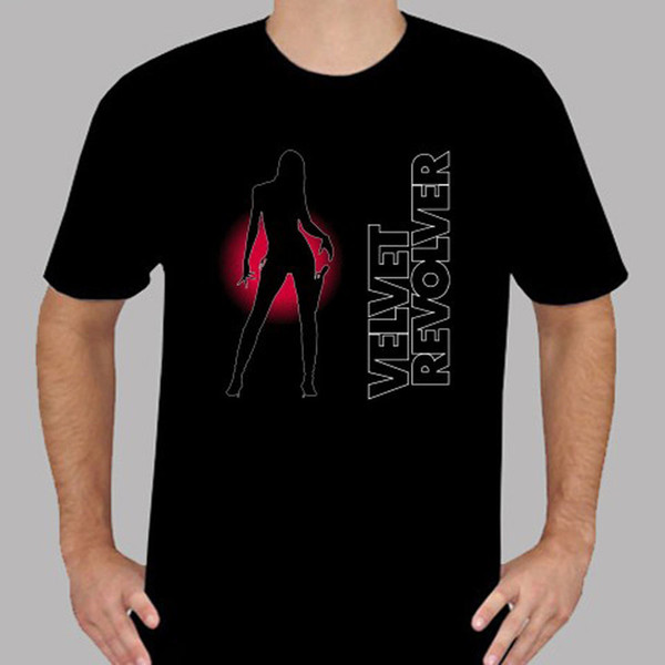 New Velvet Revolver Contraband Rock Band Slash Men's Black T-Shirt Size S To 3XL Pure Cotton Round Collar Men Top Tee T Shirt
