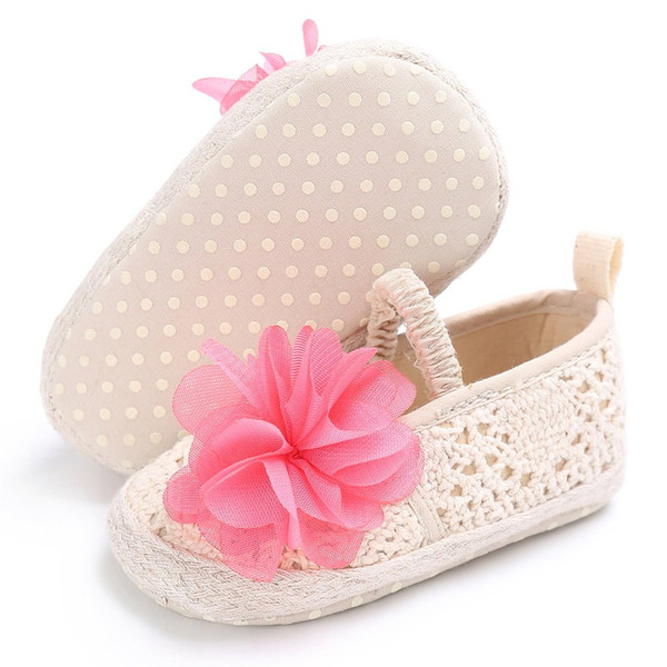 OUTAD Newborn Baby Shoes Boys Girls Moccasins Shoes First Walkers Lace Flower Soft Soled Non-slip Footwear Crib for 0-18M