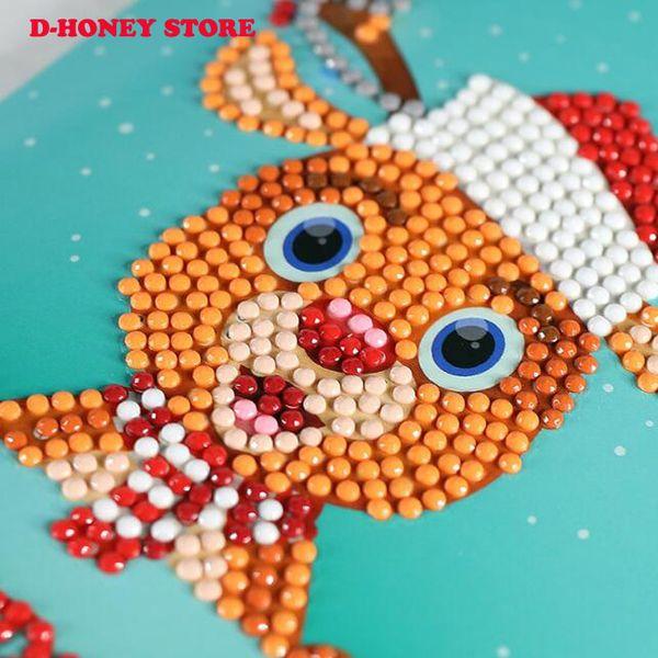 5D DIY Diamond Painnting Tarjetas de felicitación de Navidad ronda completa 7d tarjeta de felicitación diy kits de pintura pintura diamante tarjetas de navidad