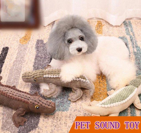 3 styles Pet Dog Sound Crocodile Jouet Chiot Dents À Croquer Jouets Résistance À La Morsure Jouable Pet Supplies dessin animé mignon jouant jouet FFA621 120pcs
