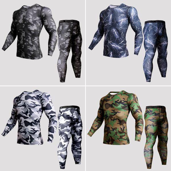 Nova Camisa de Compressão Masculina 2018 Terno Dos Esportes de Treinamento de Fitness Calças de Jogging Ativo Pista de Corrida GINÁSIO Mens Sportswear