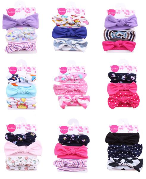 3 Unids / set Lovely Bowknot Diadema Elástica Bandas Para La Cabeza Para Las Niñas Hairbands Babys Joyería Del Pelo