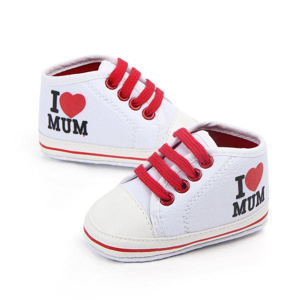 Toddler Newborn Shoes Baby Infant Kids Boy Girl Soft Sole Contton Canvas Sneaker Love Mum for Summer Spring Autumn 0-18Months