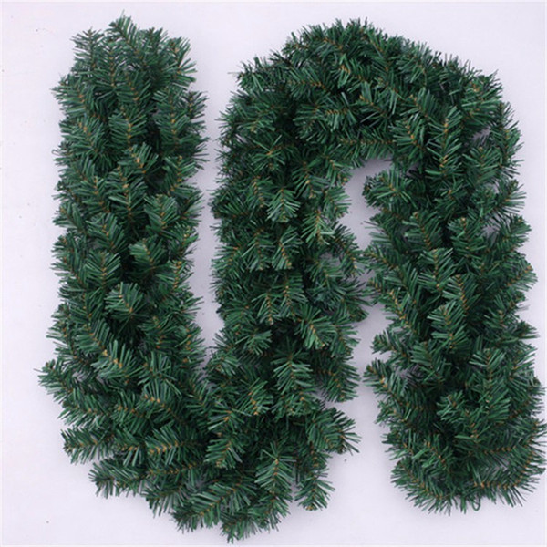 Christmas Tree Garland.270cm Christmas Decoration Rattan Synthetic Thicking Tinsel Green Tree Garland Christmas Items Hotel Bar Xmas Party Home Decor Christmas Discount