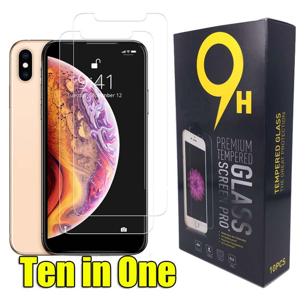 top popular For Iphone 12 Pro Max 11 Xr Tempered Glass Samsung Galaxy 9h Thoughen Screen Protector For Iphone Xs Max Xr 2020