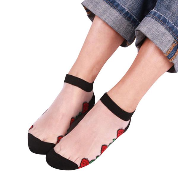 Schlussverkauf vielfältig Stile Detaillierung Großhandel Nylon Socken Damen Sheer Silky Glitter Transparente Kurze  Söckchen Spitze Vrouwen Nylons Von Sincha, $26.5 Auf De.Dhgate.Com | Dhgate