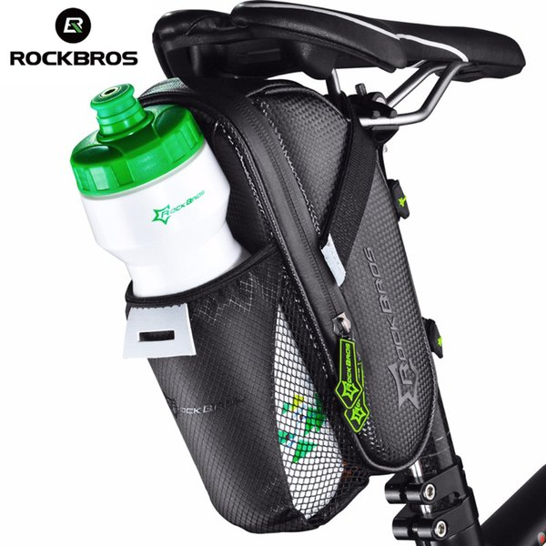 wholesale Bicycle Saddle Bag With Water Bottle Pocket Waterproof MTB Bike Rear Bags Cycling Rear Seat Bag Bike Accessories