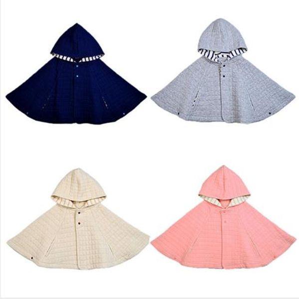 Bebek Kız Erkek Pamuk Pelerin Sonbahar Kış Çocuk Hoodies Sevimli Moda Uzun Kollu Toddler Giyim Renk 4 Çeşit
