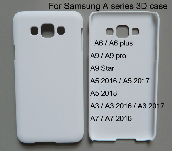 3d Blank Sublimation phone case for samsung galaxy A3 A5 A7 A8 2016 2017 2018 A6 plus A9 pro Star Custom print case 10 pcs/lot