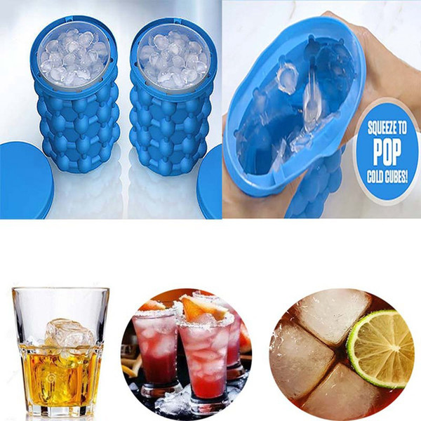 New 13*14cm Silicone Ice Cube Maker Genie Beer Cooler Tools Kitchen Accessories Gadgets Party Decoration Wedding Table Centerpieces