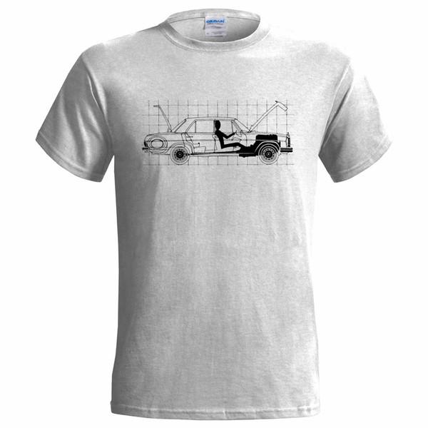 BENZ 280 SE 1970 BLUEPRINT MENS T SHIRT CLASSIC CAR W108 LUXURY T Shirt Mens Fashion Men