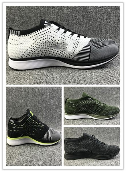 Free Shipping Mesh Multicolor Volt Oreo fly Racer Casual Shoes Airs Lunar Running Shoes Men Women Trainer Sneaker Eur 36-45