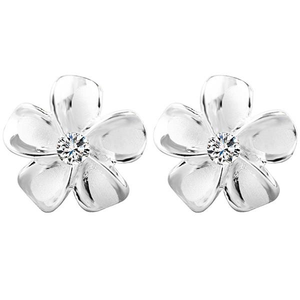 Sakura Ear Nail S925 en argent Sterling Corée Boucles d'oreilles simples pour les filles frais et polyvalent tempérament étudiants personnalité boucles d'oreilles
