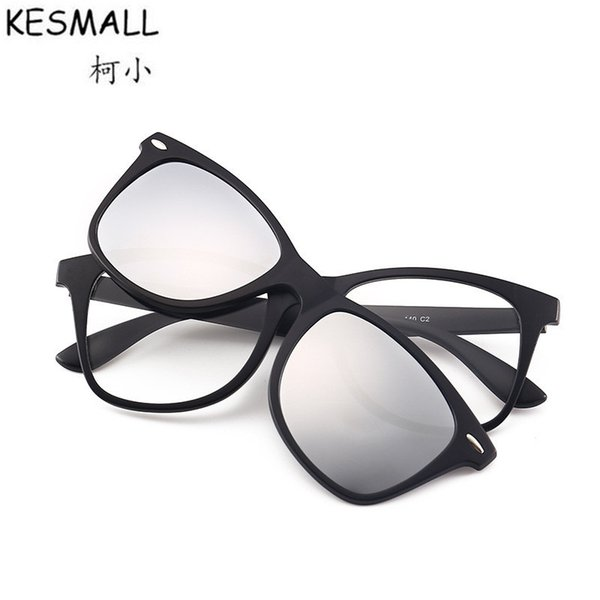 wholesale 2018 Magnetic Night Driving Sunglasses Women Men TR90 Polarized Sun Glasses Clip On Frame Optical Oculos UV400 BY417