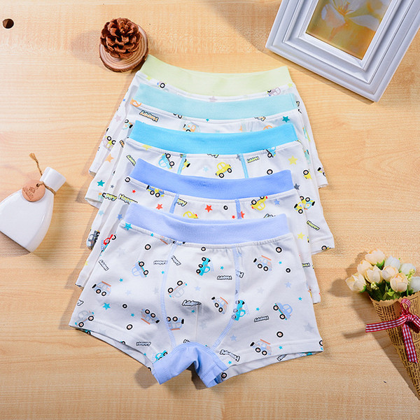 75b0f724087c Underwear for Boy Kids Boxes Cartoon cars Full printed Boys shorts Middle  Big boys Cotton Regenerated