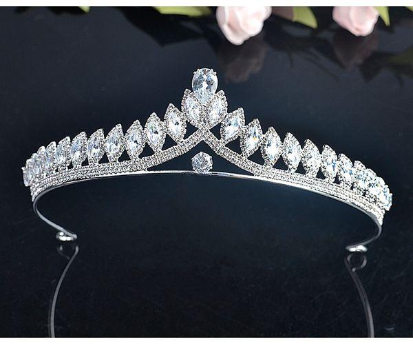 Crystal Wedding Party Prom Homecoming Crowns Band Princess Bridal Tiaras Hair Accessories Fashion 2019 Free Shipping