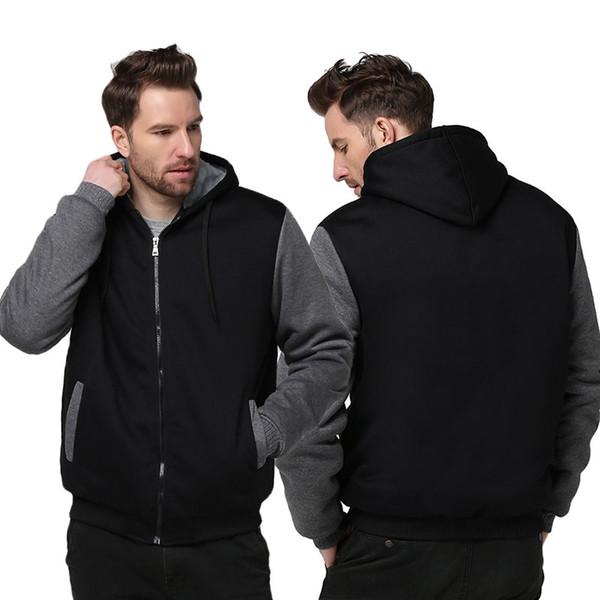 US size Men Women Custom Made Design Skull Hoodie Thicken Jacket Clothing Coat Sweatshirts