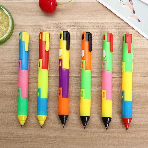 24 Pcs/lot Foldable Ballpoint Pen Stitch Pen Wholesale Bend Creative Student Prize Item