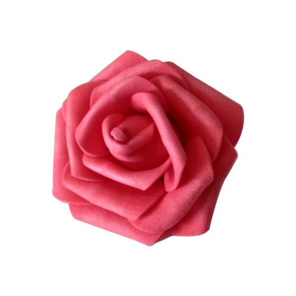 100pcs Paquet Diamètre 6 Tableau 7 centres de table cm Roses mousse artificielle capitules pour la maison Décorations festives mariage