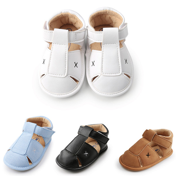 CX079 2018 High Quality Summer Baby Shoes Moccasins Newborn Baby Girl Boy Sandals Infant Kids Baotou Sandals Anti-slip First Walkers Shoes.