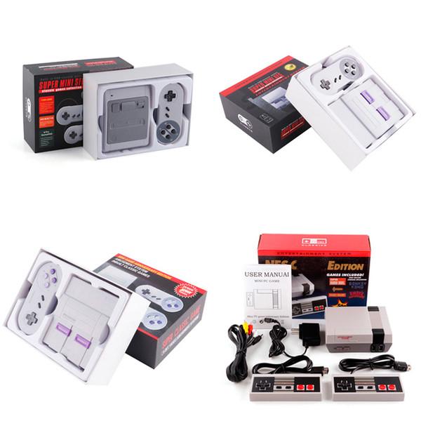 Super Famicom Mini SFC TV Vidéo Console de jeu portable Système de divertissement pour les jeux NES SNES English Retail Box DHL